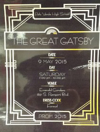 Great Gatsby invites Palo to Prom