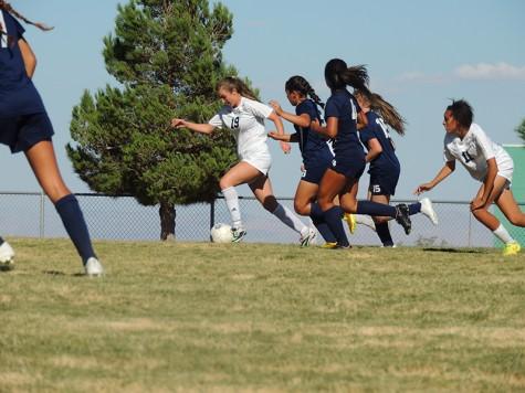 Women's varsity soccer pummel the Patriots