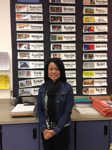 Palo Verde's new art teacher, Mrs. Duong, enjoys sharing a love for all artistic mediums with her students.