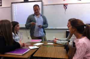 Spanish teacher Señor Velasquez tries to use innovative methods while teaching his students.