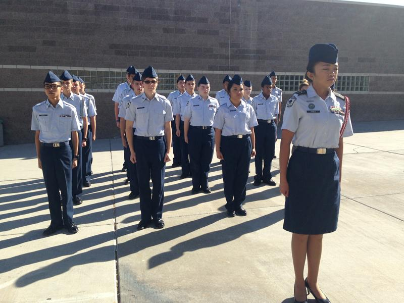 ROTC+students+prepare+for+inspection+during+school+hours.