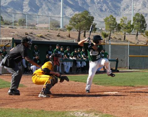 Junior and crucial player Yodai Nakamura prepares to hit a single in a game against Bonanza on Mar. 17 on Palo's field.