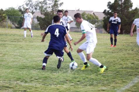 Men's varsity soccer shuts out Centennial Bulldogs