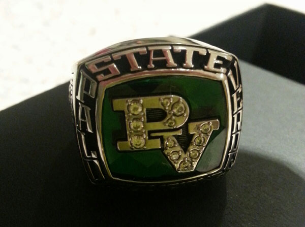 This is Men's Tennis state ring which the team received in early January at their banquet.