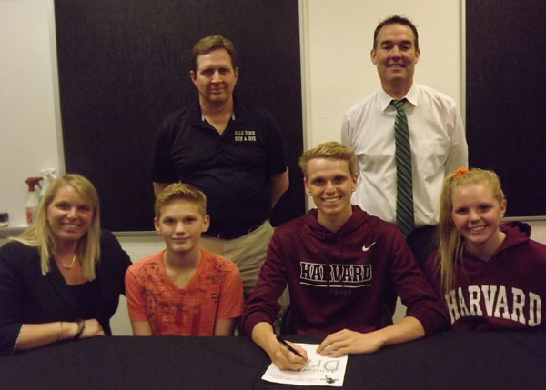 Logan Houck is signing for Harvard swim, he will attend there this coming fall.