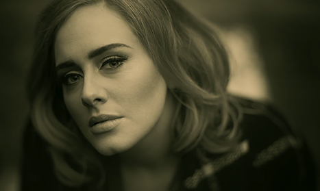 A screenshot from Adele's music video