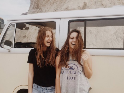 Kylie Palmer and Alysha Hulting get caught in a candid on their trip to Lake Mead.