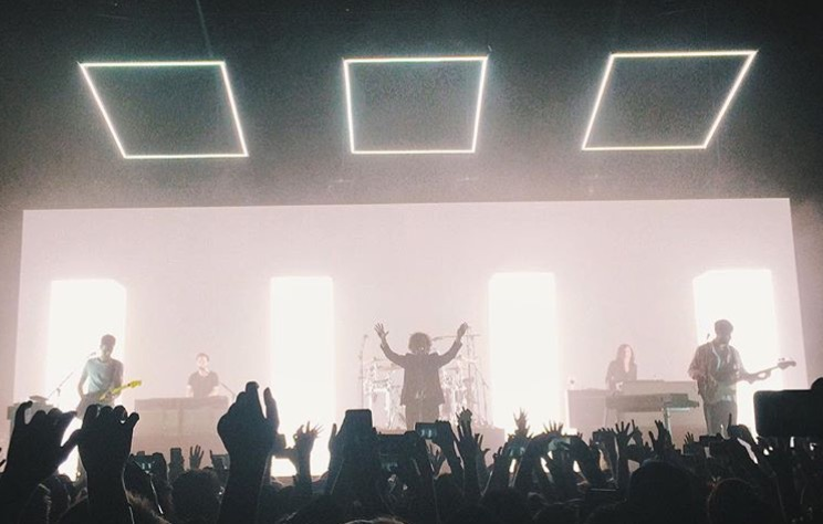The+1975+performing+their+encore+song+%22If+I+Believe+You%22+at+the+Chelsea.++