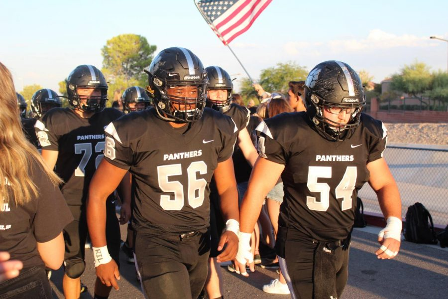 Varsity Football Defeats Desert Oasis in First Home Game