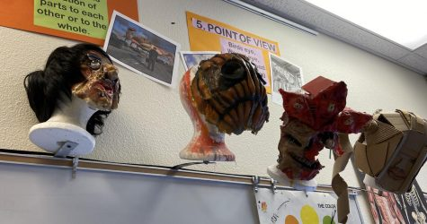 The haunting creations of the Monster Makers students.